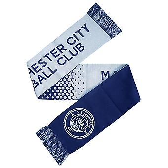 Manchester City FC Official Fade Football Crest Supporters Scarf