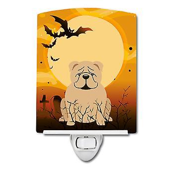 Halloween English Bulldog Fawn Ceramic Night Light