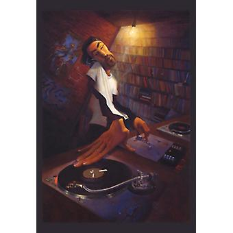 The DJ Poster Print by Justin Bua (24 x 35)