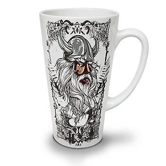 Viking Warrior geconfronteerd met nieuwe witte thee koffie keramische Latte Mok 17 oz | Wellcoda