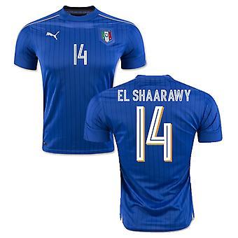 2016-2017 Italy Puma Home Shirt (El Shaarawy 14)