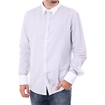 Diesel Mens L/s Shirt Contrast Collar And Cuff