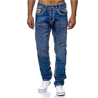 Men's jeans pants AMICA big seam Dicke double seam contrast embroidered