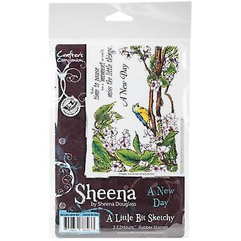 Sheena's A Little Bit Sketchy Tropical Bird EZMount Stamps-A New Day SDLBSNEW