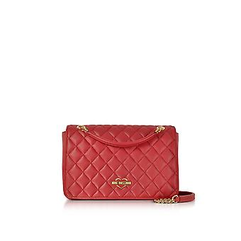 Love Moschino ladies JC4008PP15LB0500 borsa a tracolla in ecopelle rosso