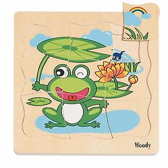 Holziger Boden Puzzle Frosch 90078