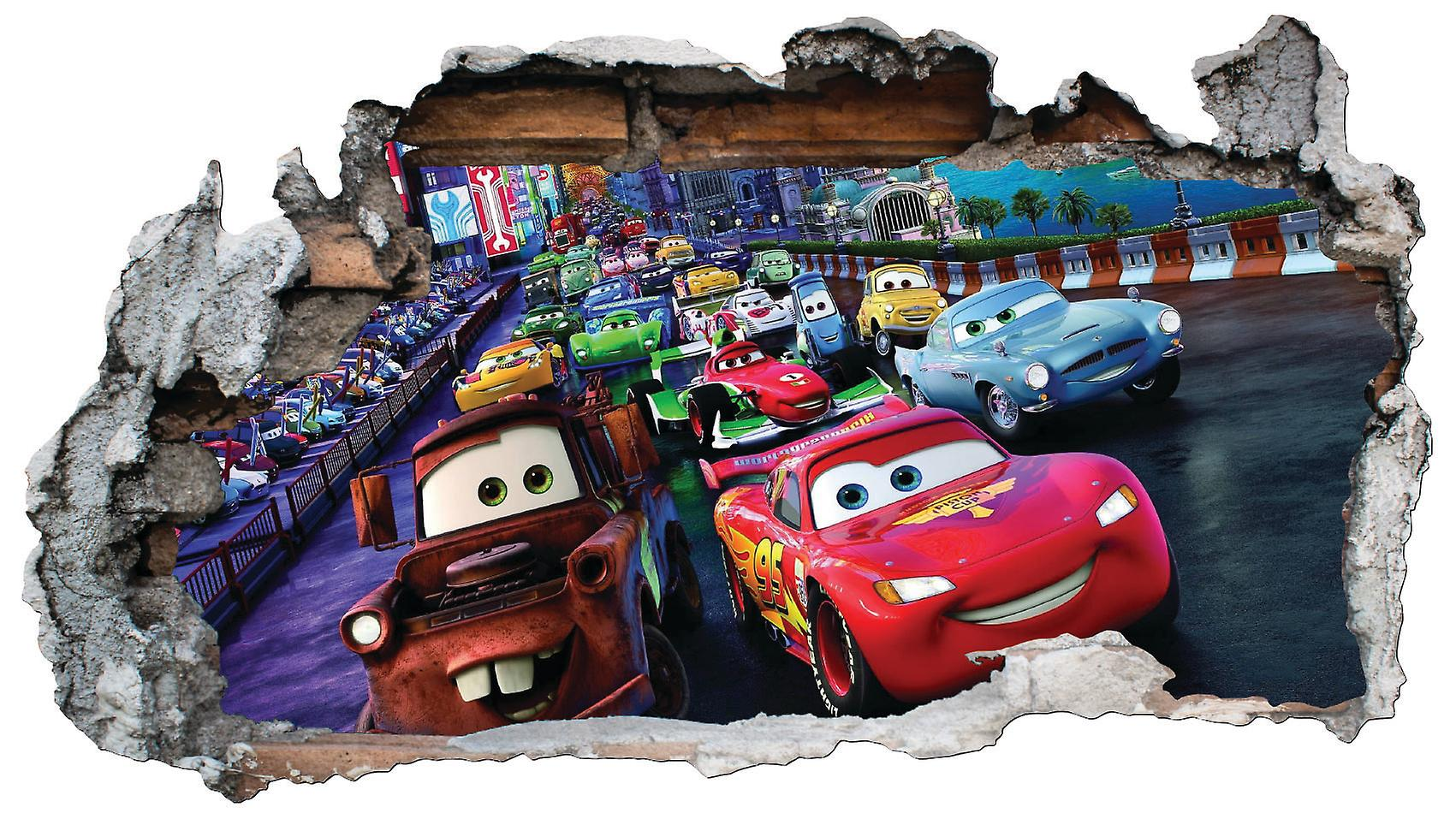 GNG Disney Cars Planes Race Smashed Wall Art Vinyl Decal Stickers Home Decor Boys Girls Children Bedroom