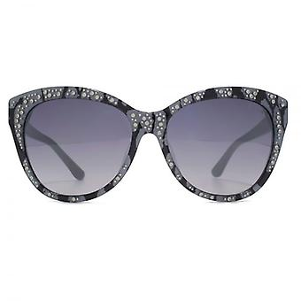 Guess Cateye Sunglasses In Black Lace Effect