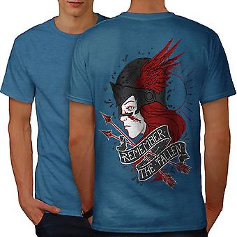 Remeber Fallen Fantasy Men Royal BlueT-shirt Back | Wellcoda