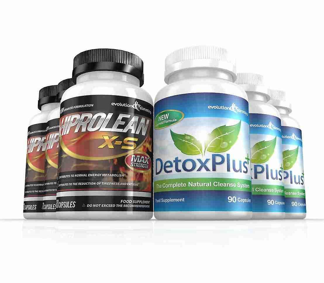 Hiprolean X-S High Strength Fat Burner and Cleanse Combo Pack - 3 Month Supply - Fat Burner and Colon Cleanse - Evolution Slimming