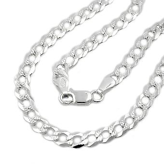 Armband open curb chain zilver 925 19 cm