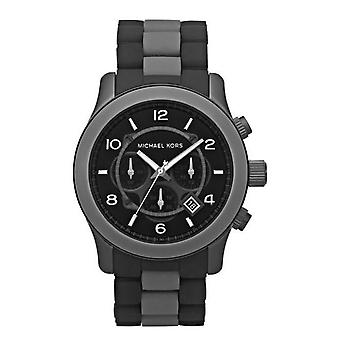 Michael Kors Mens Watch Black Chronograph MK8201