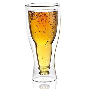 Avanti Beer Bottle Twin Wall Glass