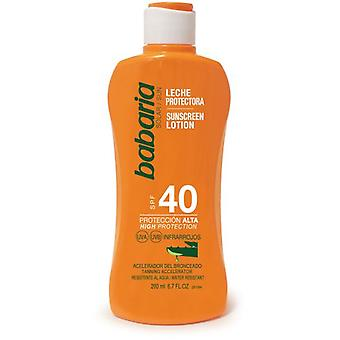 Babaria Aloe Sunscreen Milk F40 200 ml (Cosmétique , Corporel , Solaires)