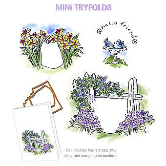 Art Impressions Mini Try'folds Cling Rubber Stamps 10
