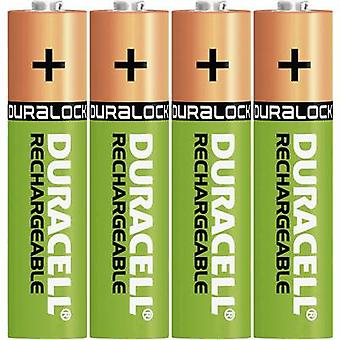 AAA battery (rechargeable) NiMH Duracell StayCharged HR03 800 mAh 1.2 V 4 pc(s)