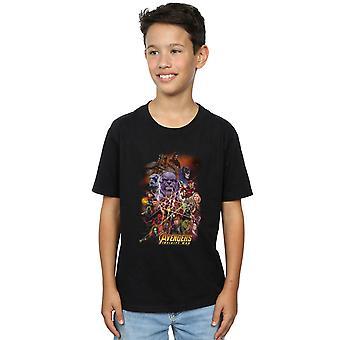 Marvel drenge Avengers Infinity krigen karakter plakat T-Shirt