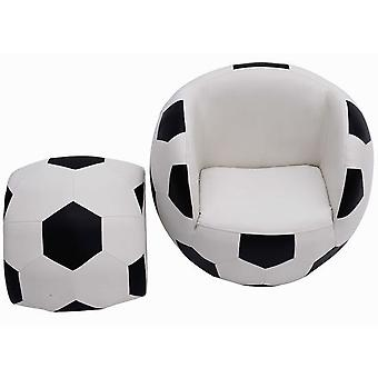 HOMCOM Kids Children Football Chair Armchair Sofa and Stool sport theme childrens playroom Fanatic Brand New BY HOMCOM