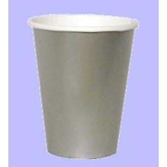 D'argento 9 once tazza di carta (pk di 25)