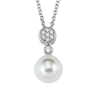дамы жемчужина s.Oliver цепи ожерелье шарик серебра кубического циркония 2021044