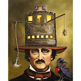 Poe Hat affiche Poster Print