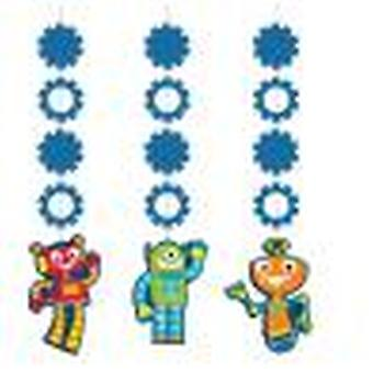 Robot Hängedeko 3 PCs. 1 piece children birthday theme party party birthday