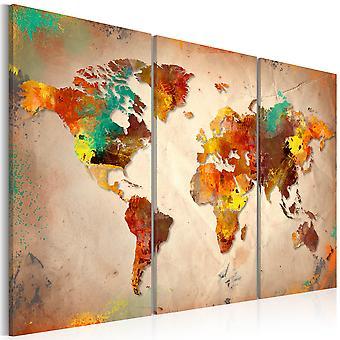 Leinwand Drucken - gemalte Welt - Triptychon