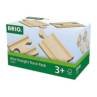 Brio World Railway Track - Mini Straight Pack