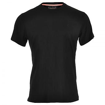 Thomas Pink Cotton Crew Neck Short Sleeve T-Shirt, Black, Small