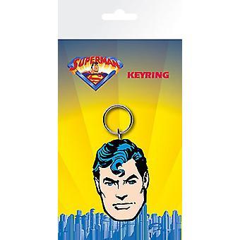 Superman Face Pvc Flexible Keyring