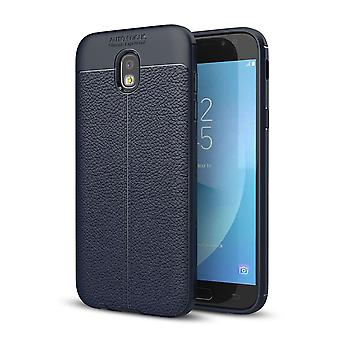Handy Hülle Schutz Case für Samsung Galaxy J7 2017 Cover Rahmen Etui Blau