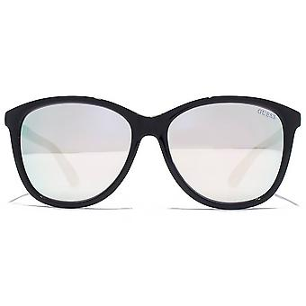 Guess Full Rim Sunglasses In Shiny Black