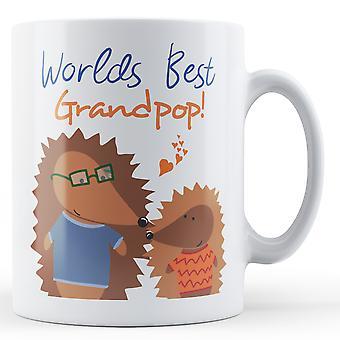Worlds Best Grandpop! Hedgehog - Printed Mug