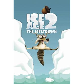 Ice age 2 - the Meltdown  Poster Scrat between ice