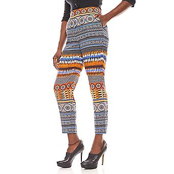 B.C.. best connections loose ladies boho print trousers colorful