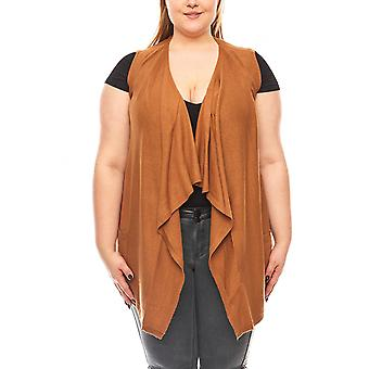 Rick cardona by heine ladies knitted vest large size Brown