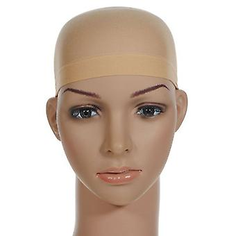 TRIXES Beige Nylon Hair Socking Bald Cap for Wigs