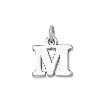 Oxidized Sterling Silver Letter  Charm Measures 12mm X 18mm - Initial Options:  a B C D E H I J K M N O P R S T W X Y Z