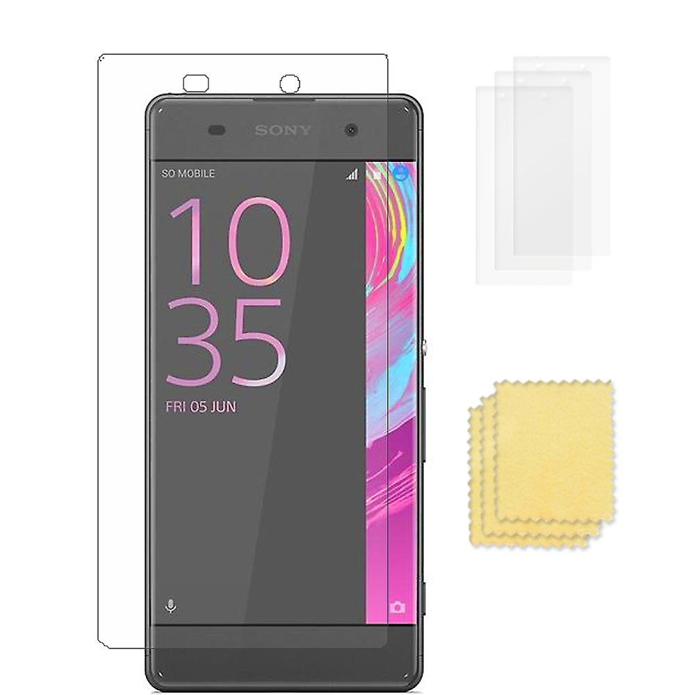 3-PACK Sony Xperia XA Transparent screen protector + cleaning cloth