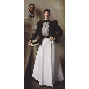 Mr and Mrs Isaac Newton Phelps,John Singer Sargent,80x40cm