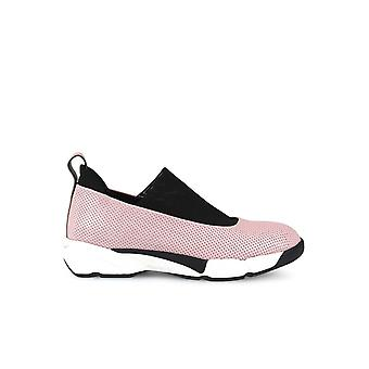 PINKO MAGNOLIA 4 PINK PERFORATED LEATHER SNEAKERS