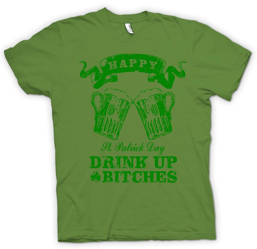 Mens T-shirt-St. Patricks Day Getränk bis Bitches - lustig