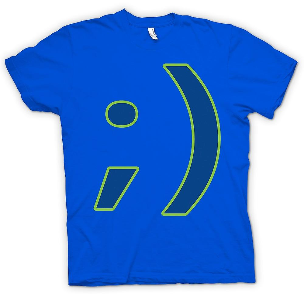 Heren T-shirt - Smiley - Grappige
