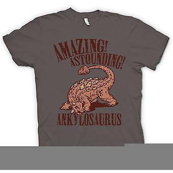 Koszulka męska - niesamowite zdumiewające ankylozaura - fajne dinozaur
