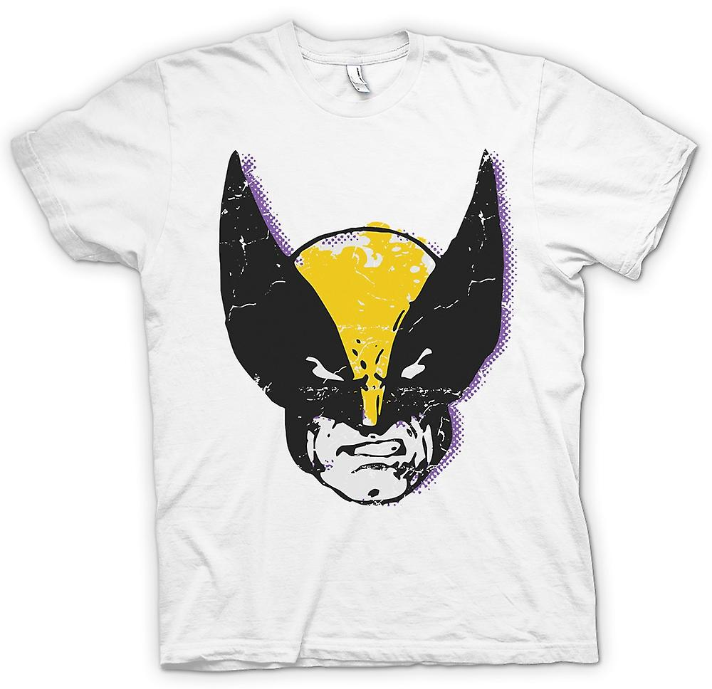Mens T-shirt - Wolverine Pop Art Face - Xmen Inspired