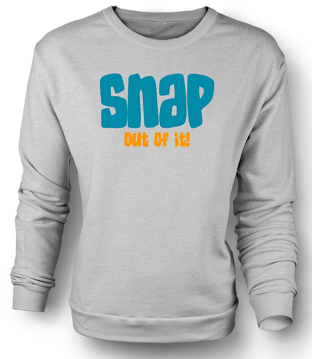 Mens Sweatshirt Mondsüchtig Snap out of It - lustig