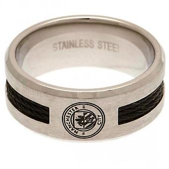Manchester City FC Black Inlay Ring