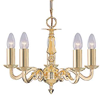 Searchlight 2175-5NG Seville 5 Light Ceiling Pendant