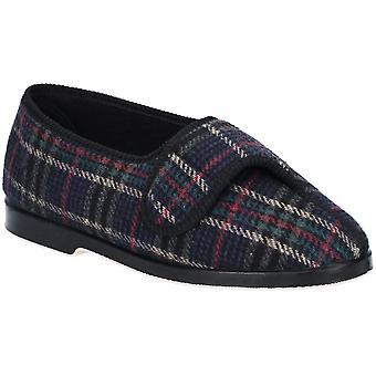 GBS Medical Mens Bill Super Cosy Check Comfort Slippers