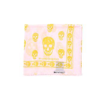 Alexander Mcqueen Yellow Cotton Scarf